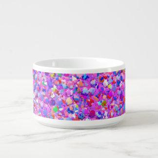 Tazón Purpurina moderno #8 de la arena del mosaico