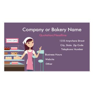 TBA Tarjeta de visita de la panadería de la tien