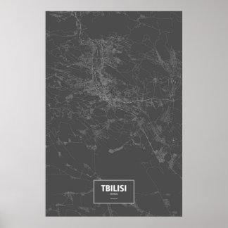 Tbilisi, Georgia (blanca en negro) Póster
