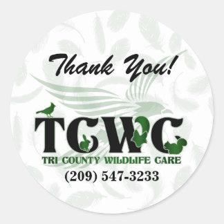 TCWC - El verde del logotipo le agradece los Pegatina Redonda