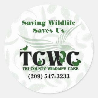 TCWC - La fauna del ahorro del logotipo nos ahorra Pegatina Redonda