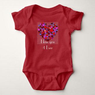 Te amo 4 nunca body para bebé