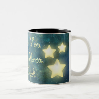 Te amo a la taza de la estrella de la luna y de la
