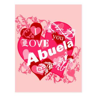Te amo Abuela Postal