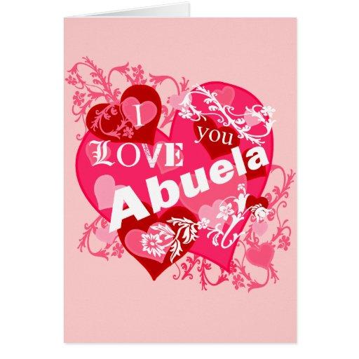 Te amo Abuela Felicitacion