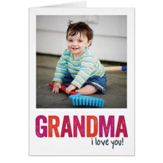 ¡Te amo, abuela! Tarjeta