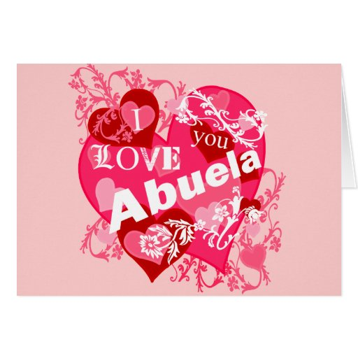 Te amo Abuela Tarjeta