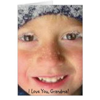 Te amo abuela tarjeta de felicitación