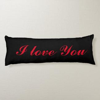 Te amo almohada de lujo del cuerpo