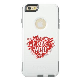 Te amo arte rojo precioso hermoso del vector de funda otterbox para iPhone 6/6s plus