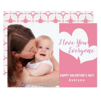 Te amo cada uno tarjeta de la foto del el día de