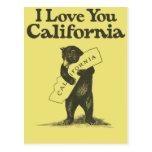 Te amo California Tarjetas Postales
