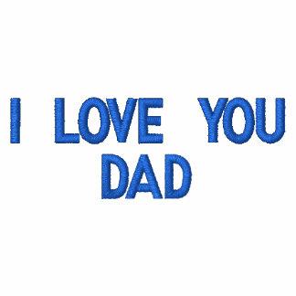 Te amo camiseta bordada papá del polo