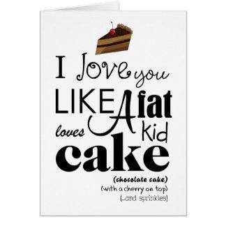 Te amo como una tarjeta de felicitación de la