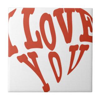 Te amo corazón azulejo