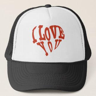 Te amo corazón gorra de camionero
