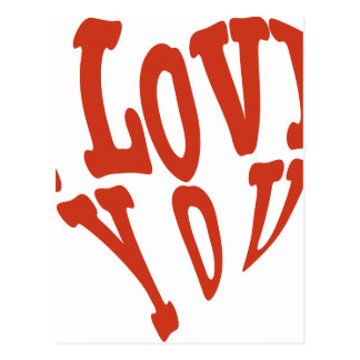 Te amo corazón postal