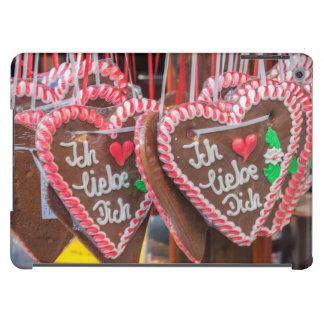 Te amo corazones del pan de jengibre en el día de carcasa para iPad air