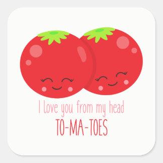 Te amo de mi pegatina principal de los tomates