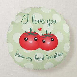 Te amo de mi retruécano divertido de la fruta de cojín redondo