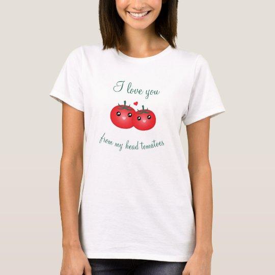 Te amo de mi retruécano lindo de la fruta de los camiseta