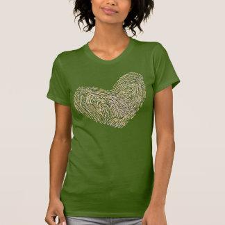 Te amo diseño del texto del corazón camisetas