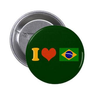 Te amo el Brasil Chapa Redonda De 5 Cm
