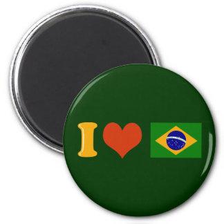 Te amo el Brasil Imán Redondo 5 Cm