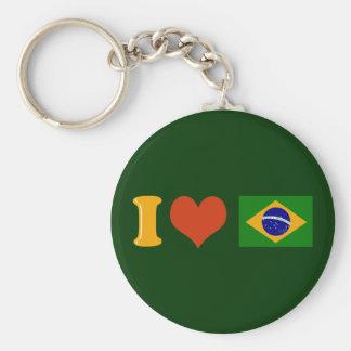 Te amo el Brasil Llavero Redondo Tipo Chapa