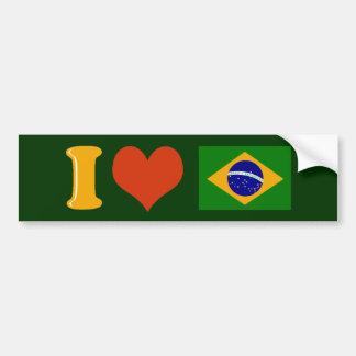 Te amo el Brasil Pegatina Para Coche