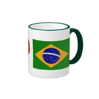 Te amo el Brasil Taza De Dos Colores