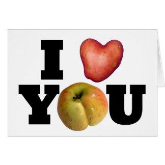 TE AMO - el día de San Valentín 1 de saludo Tarjeta De Felicitación