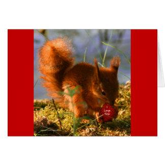 Te amo fresa tarjeta de felicitación