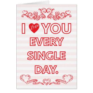 Te amo la tarjeta de cada tarjeta del día de San