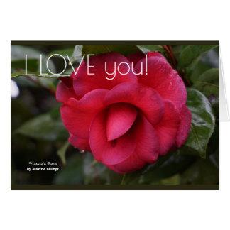"""""""Te amo"""" la tarjeta de felicitación"""