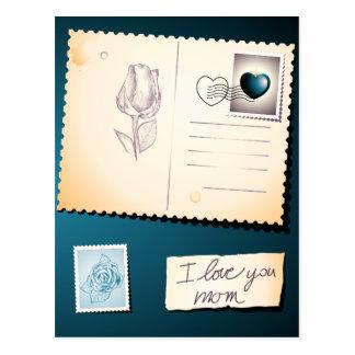 Te amo mamá, postal