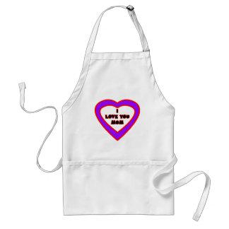 Te amo MAMÁ Purple Heart el regalo de Zazzle del M Delantales