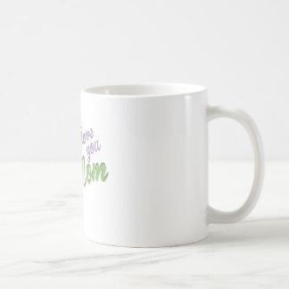 Te amo mamá taza básica blanca