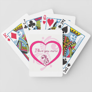 Te amo más baraja de cartas bicycle
