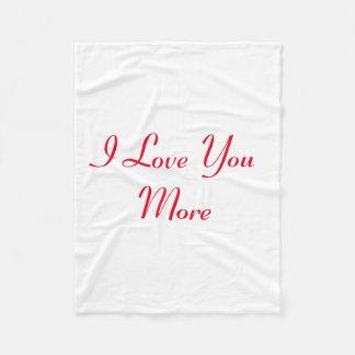 Te amo más manta polar