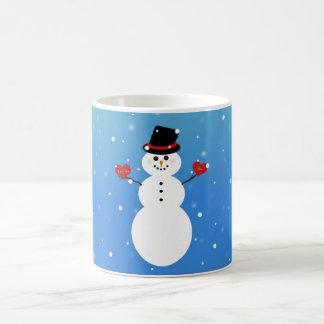Te amo más muñeco de nieve taza mágica