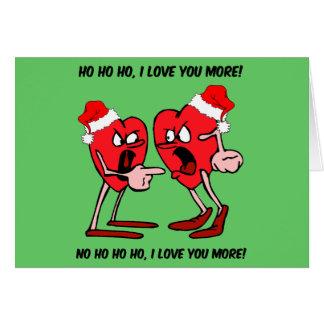 Te amo más navidad tarjeta de felicitación