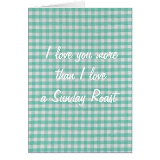 Te amo más que amor de I una tarjeta de la carne a
