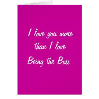 Te amo más que el amor de I que es la tarjeta del