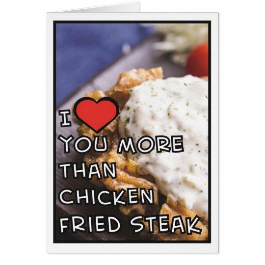 Te amo más que el filete frito pollo (espacio en tarjeta de felicitación