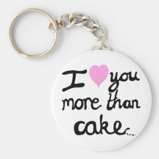 Te amo más que el llavero de la torta
