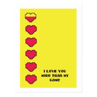 Te amo más que mis corazones digitales del juego postal