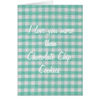 Te amo más que tarjeta de las galletas de micropro