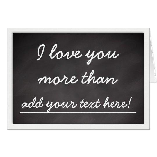 Te amo más que - tarjeta del día de San Valentín