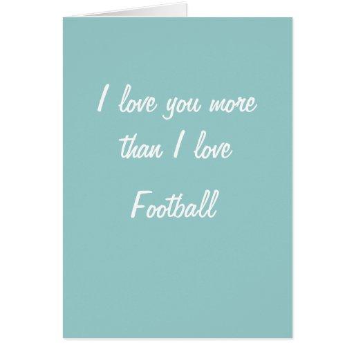 Te amo más que tarjeta del fútbol